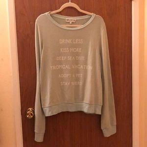 Wildfox Baggy Beach Jumper - New Years Resolutions